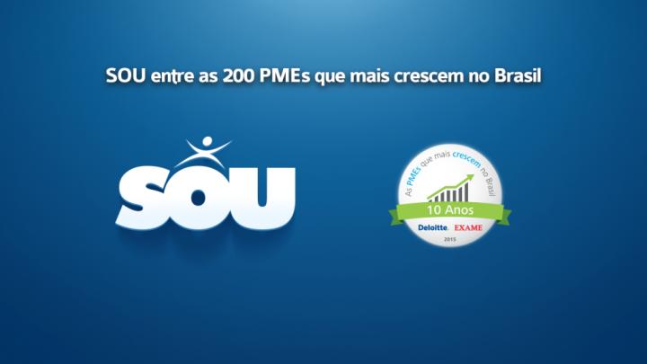 SOU entre as 200 PMEs que mais crescem no Brasil